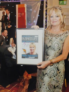 Karen Hutchings awarded 'Highly Commended for International Achievement' Swansea Bay Woman in Business Awards 2013