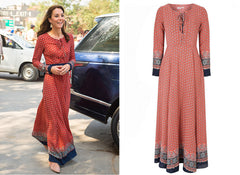 Bohemian dress Kate Middleton