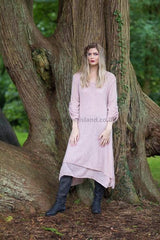 Pale pink layered dress
