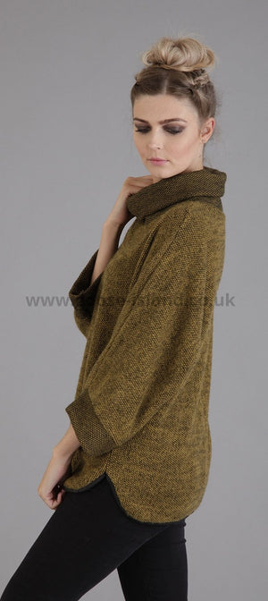 mustard cowl neck jumper