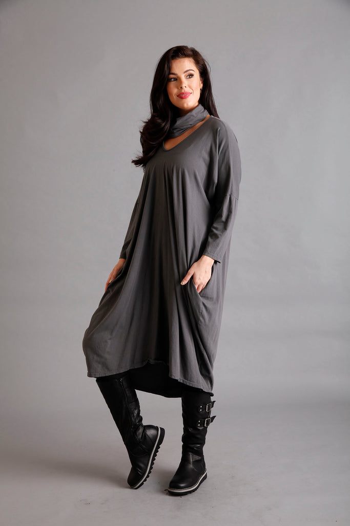 Grey Snood Dress
