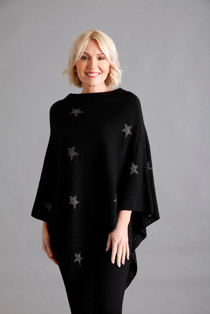 Black Star Lurex Poncho