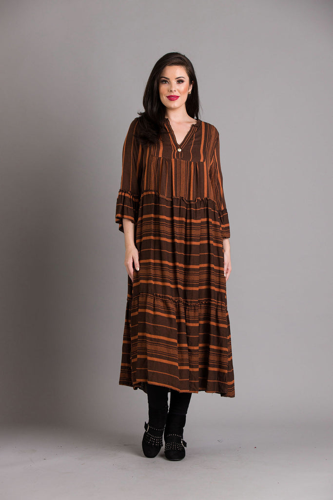 goose island rust maxi dress