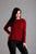 Wine Knitted Star Jumper