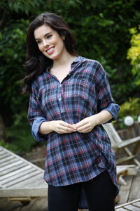 Denim Blue Check Shirt - Goose Island