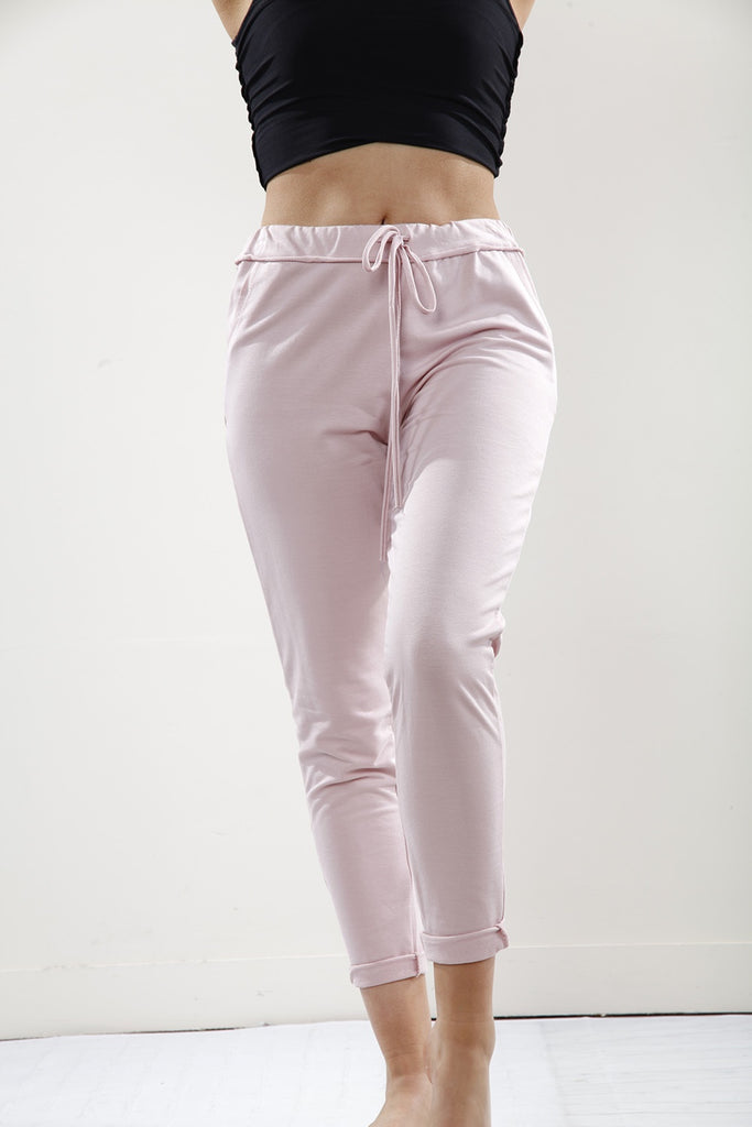 Pink Plain Leggings - Goose Island