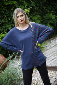 Denim Blue Pocket Knit Top - Goose Island