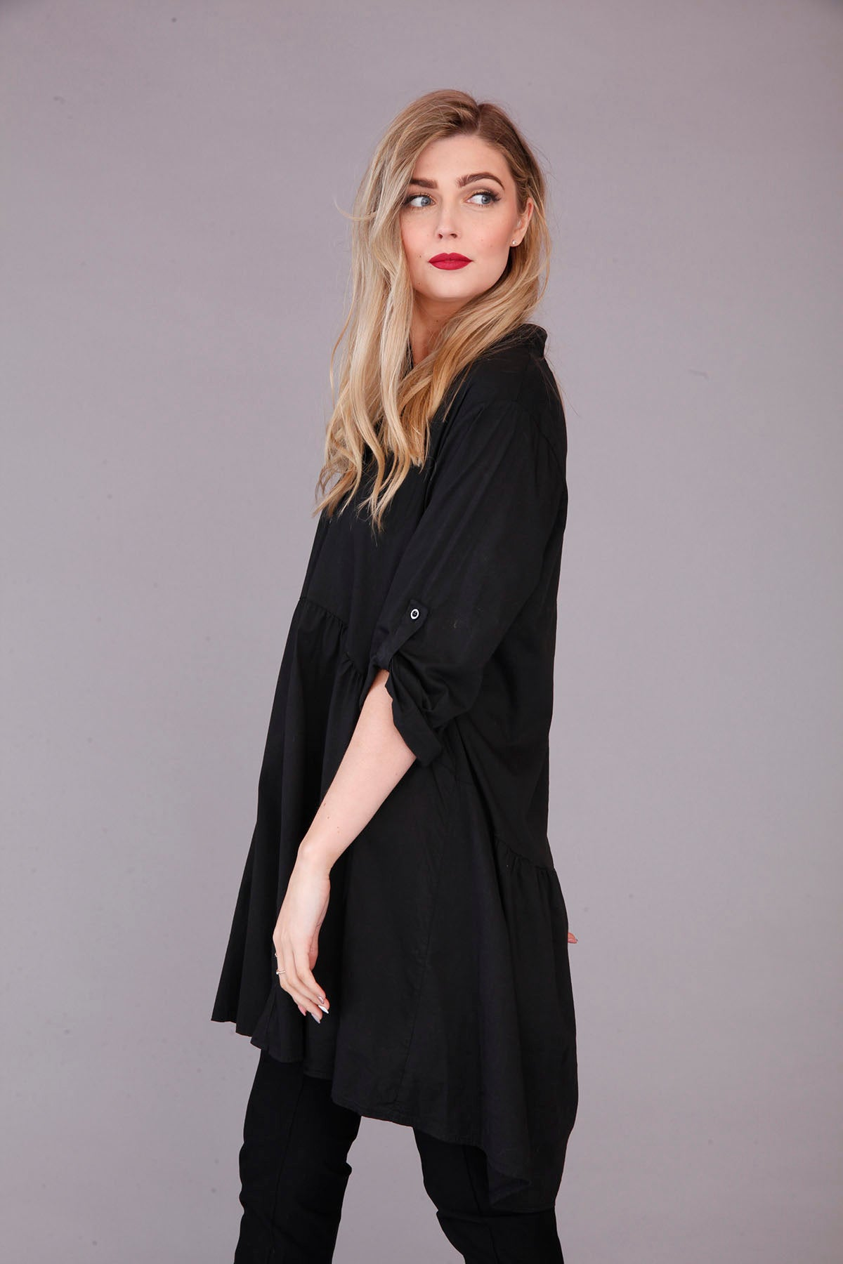 goose island black smock top