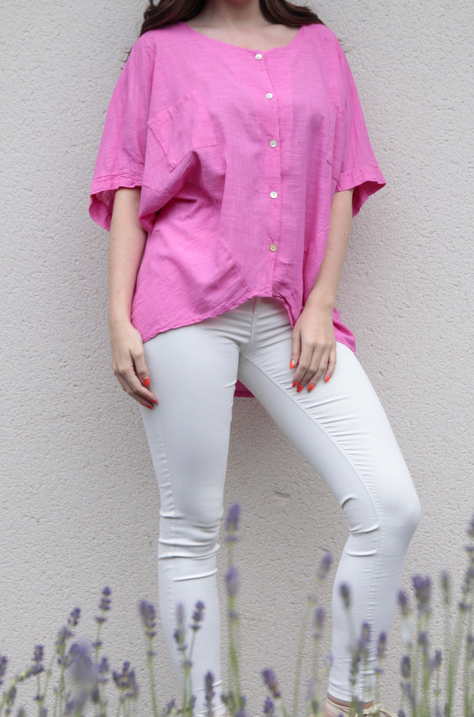 PLAIN PINK COTTON TOP