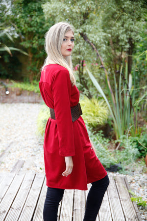 PLAIN DARK RED DRESS BY GOOSE ISLAND