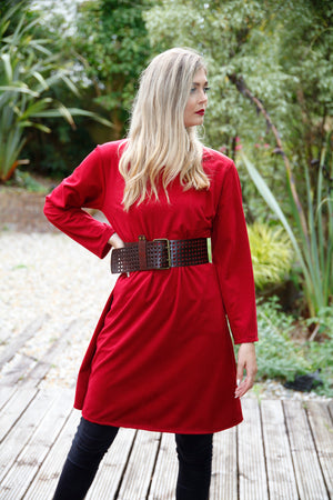 Plum Plain Pocket Tunic