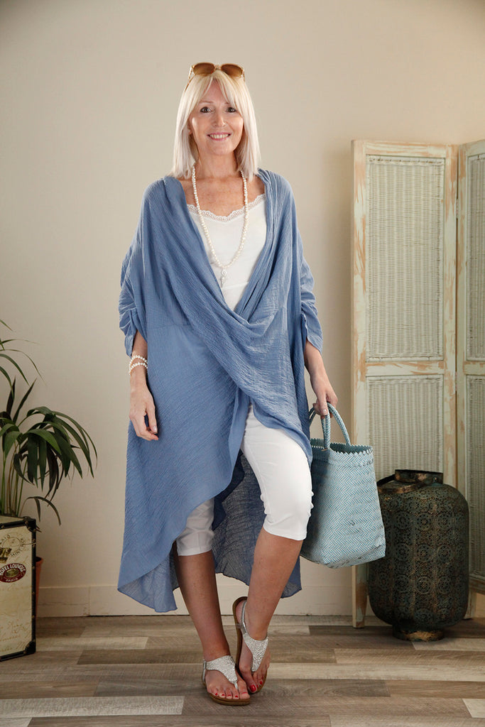 Blue Crossover Tunic