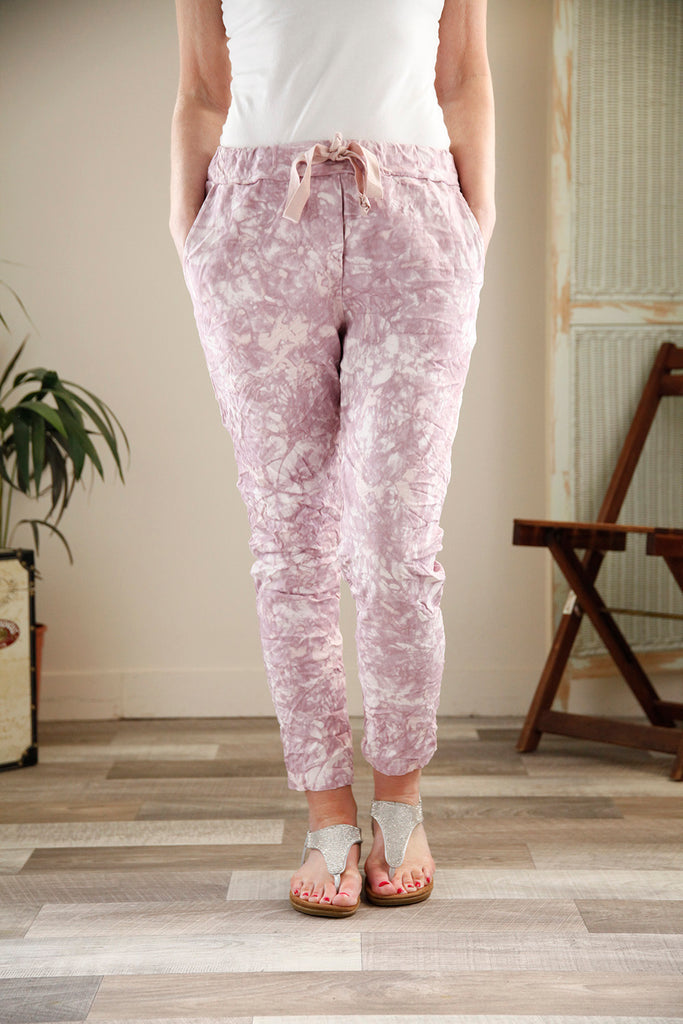 Pink Marble Print Magic Trousers