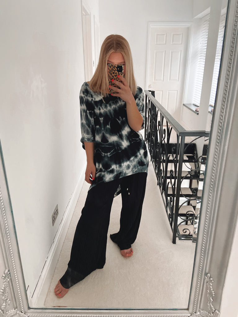 Tie Dye Hi Low Basic Top