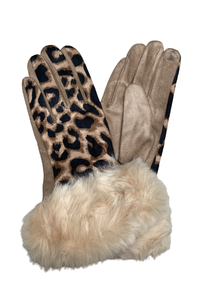 Animal Suede Gloves
