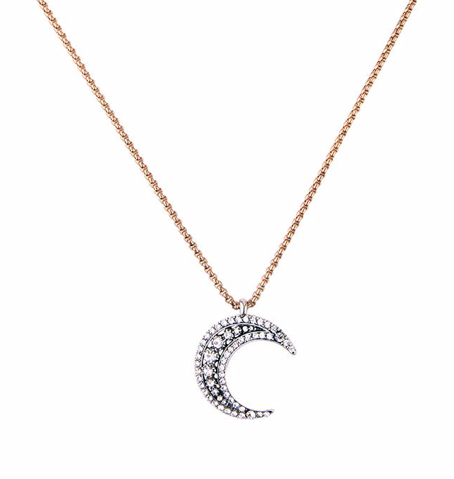 Crystal Moon Necklace