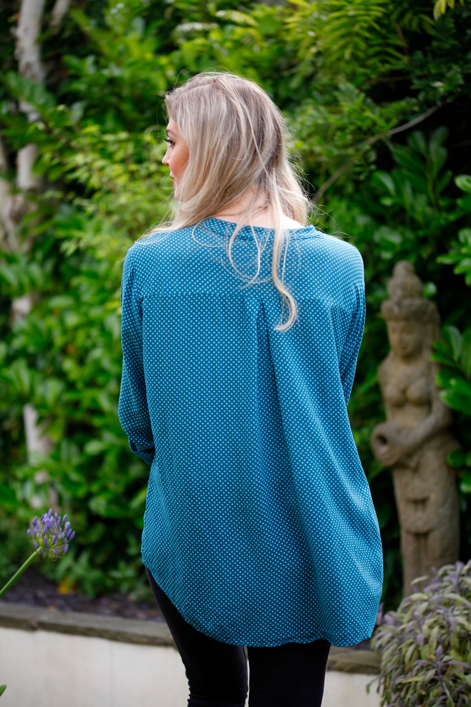 ladies teal blue shirt