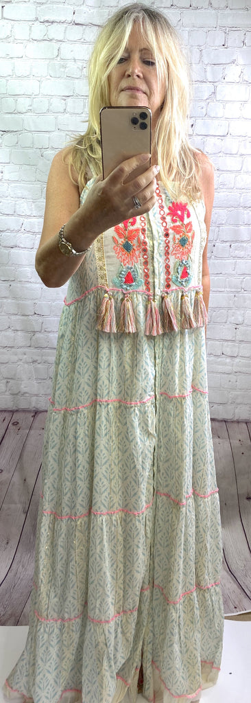 Blue Boho Maxi Dress - Goose Island