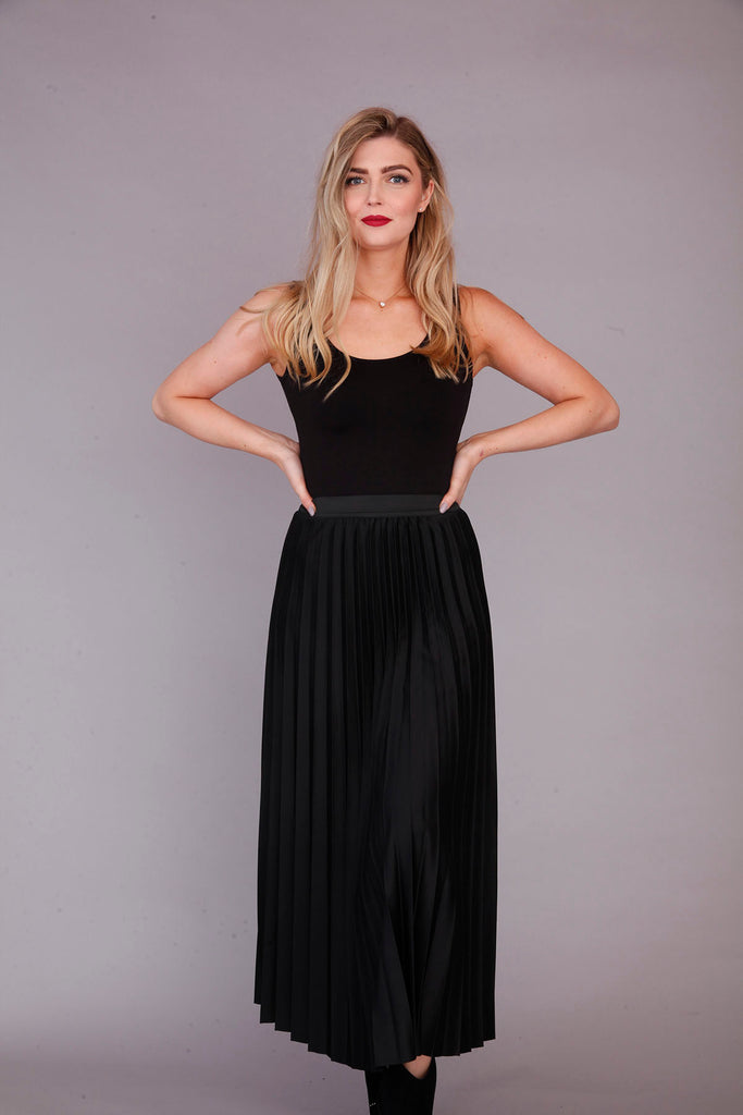 Black Pleated Skirt - Goose Island