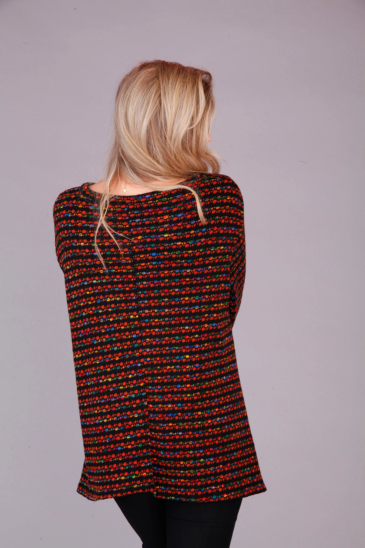 RUST COLOURED KNITTED TOP