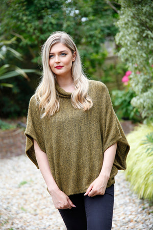goose island mustard poncho top