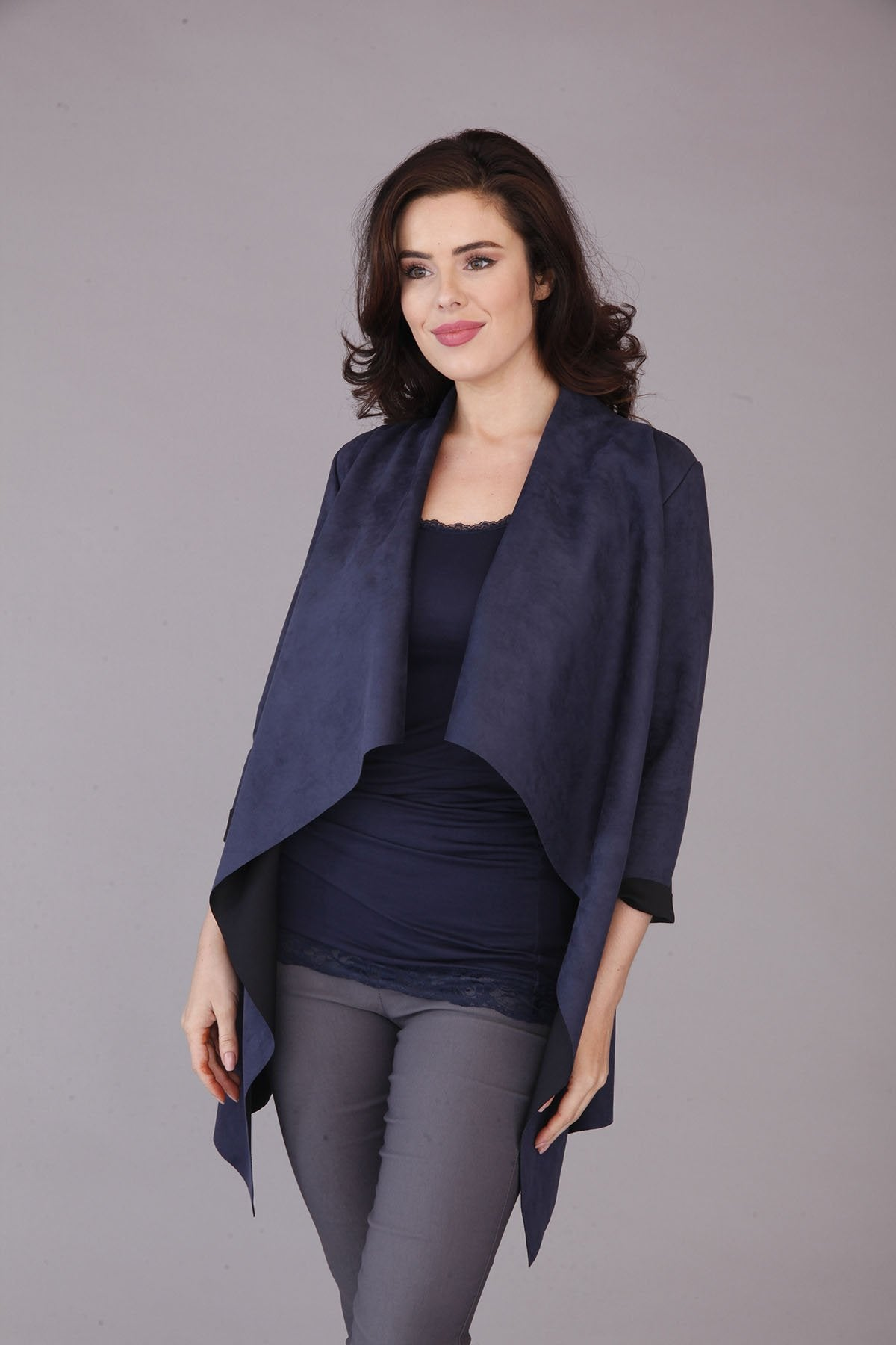navy waterfall jacket