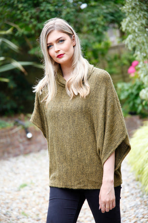 free size mustard poncho top