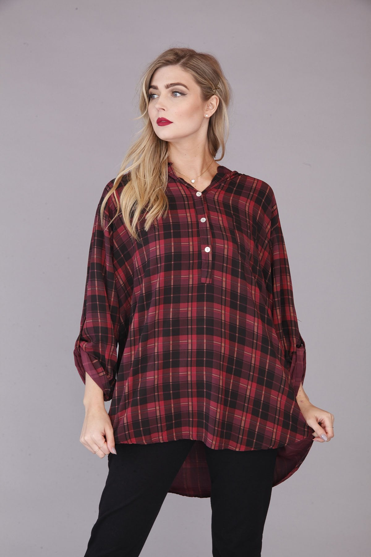 Plum Check Shirt - Goose Island