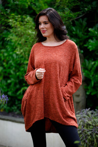 Rust Pocket Wool Tunic - Goose Island