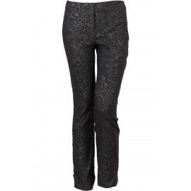 Black & Grey Leopard Print Trousers
