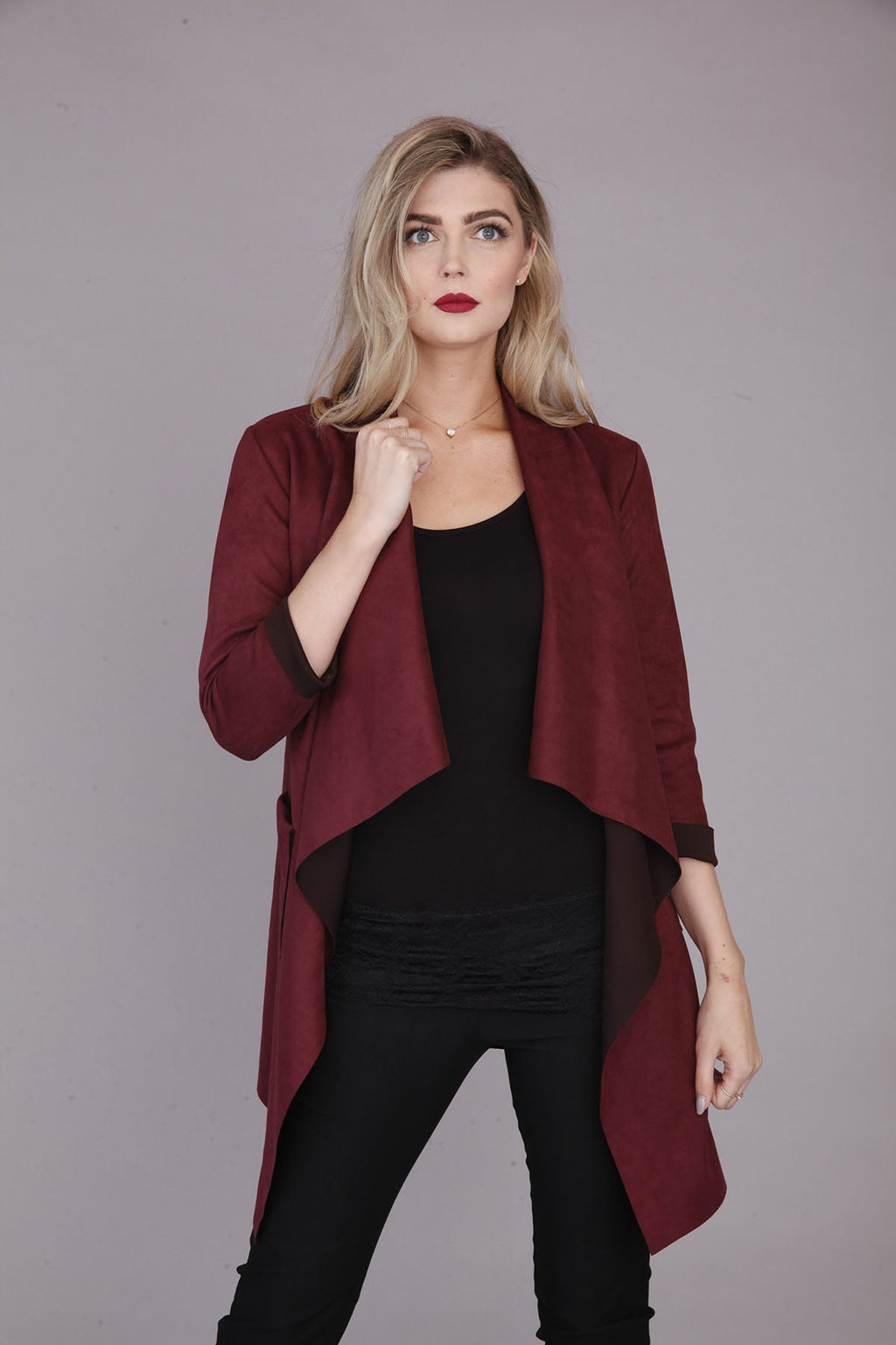 PLUM WATERFALL JACKET