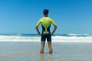 APACHE YELLOW ELITE SLEEVED TRI SUIT