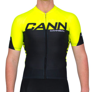 CANN Elite Sleeved Tri Top Fluoro Yellow