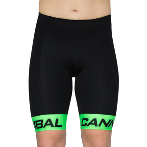 CANN FLUORO GREEN CYCLE SHORTS