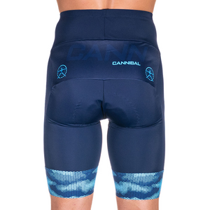 CAMO FLUORO BLUE/NAVY CYCLE SHORTS