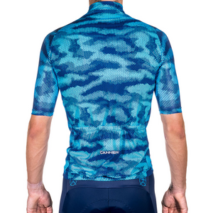 CAMO FLUORO BLUE/NAVY RACE CYCLE JERSEY