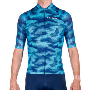 ef618983352 CAMO FLUORO BLUE/NAVY RACE CYCLE JERSEY