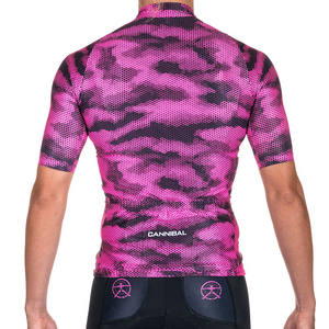 WOMENS CAMO PINK ELITE SLEEVED TRI TOP