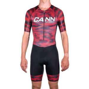 CAMO RED ELITE SLEEVED TRI SUIT