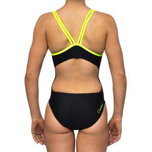 ECO GIRLS ONE PIECE YELLOW BINDING