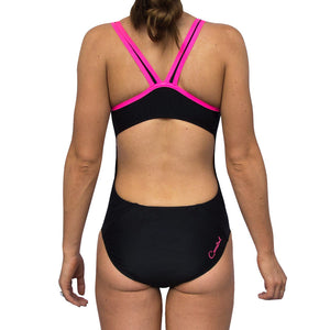 ECO GIRLS ONE PIECE PINK BINDING