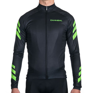 APACHE FLUORO GREEN WINTER LONG SLEEVE JERSEY
