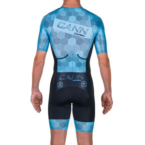 HEXHAM BLUE ELITE SLEEVED TRI SUIT