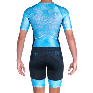 WOMEN'S HEXHAM BLUE ELITE TRI SUIT