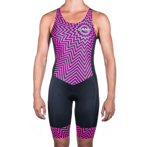 WOMEN'S HYPNOTIC KEYHOLE TRI SUIT