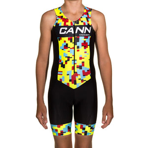 JUNIOR TRI SUIT YELLOW CAMO