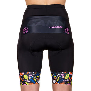 WOMEN'S FLEUR DE SQUELETTE BLACK CYCLE SHORT
