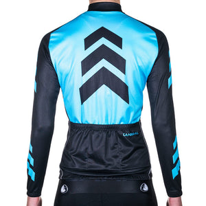 WOMEN'S APACHE BLUE WINTER LONG SLEEVE JERSEY