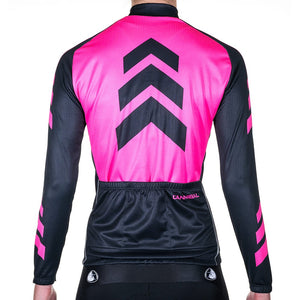 WOMEN'S APACHE PINK WINTER LONG SLEEVE JERSEY