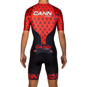 APACHE RED ELITE SLEEVED TRI SUIT